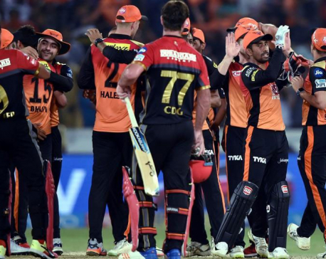 SRHbeat RCB by five runs, all but through to play-offs