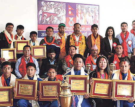 International medal winners in Karate felicitated