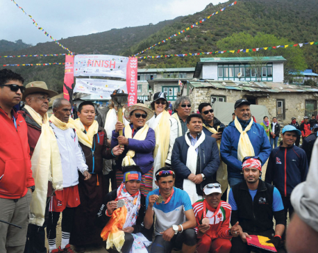 Gurung clinches Tenzing Hillary  Everest marathon title