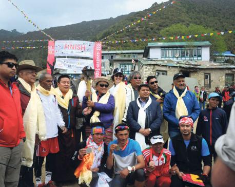 Gurung clinches Tenzing Hillary  Everest marathon title