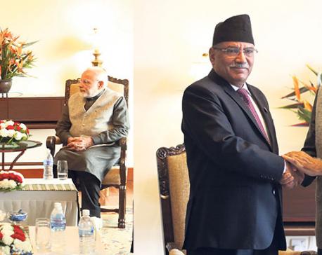 Modi meets political leaders