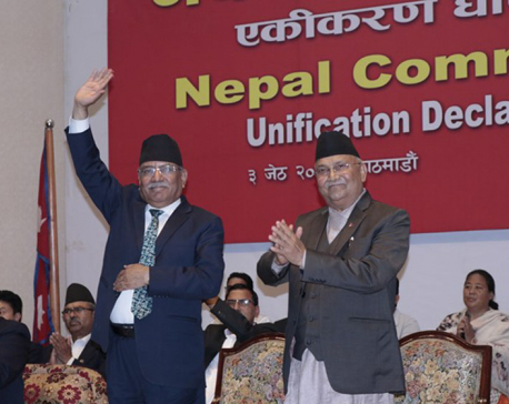 Oli vows unto prosperity, devt as driver of change