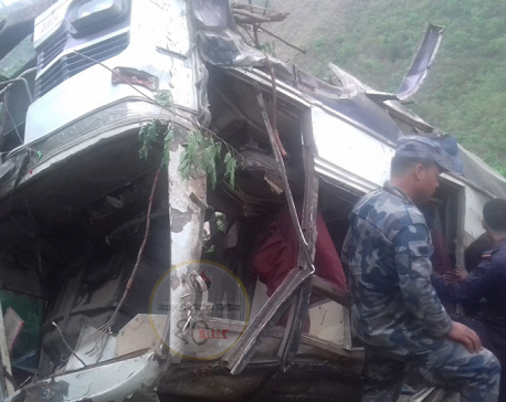 Five killed, more than 25 injured in Pyuthan bus mishap (update)
