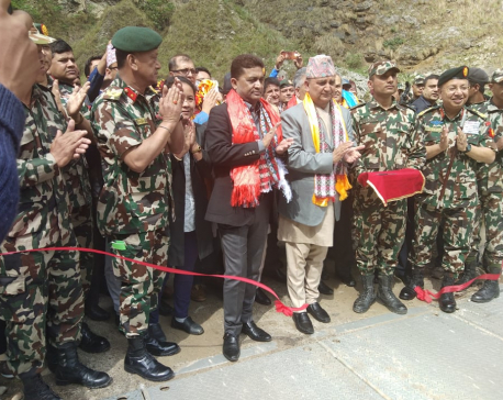 Minister inaugurates shortest route to Rasuwagadi