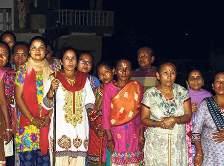 Women start patrolling at night to ensure safe neighborhood