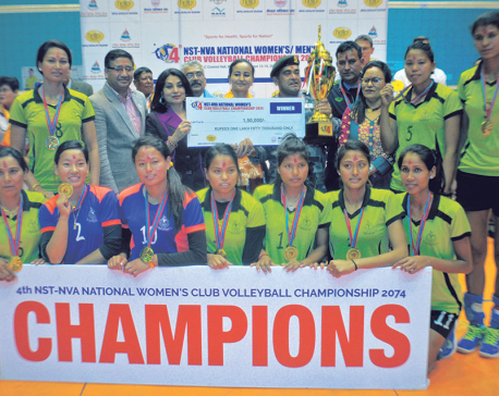 Armed Police, Tribhuvan Army lift National Volleyball titles