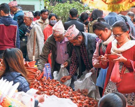 Vibrant Tihar market
