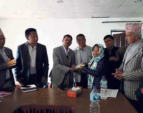 Khotang orphans get financial support