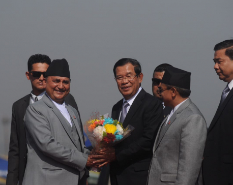 Prime Minister Oli holds one-on-one meeting with Cambodian counterpart