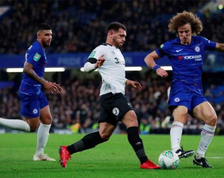 Chelsea beat Lampard's Derby to reach League Cup quarters