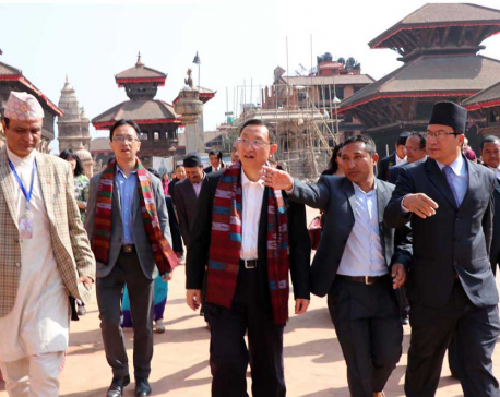 Chinese Tourism Minister visits Bhaktapur