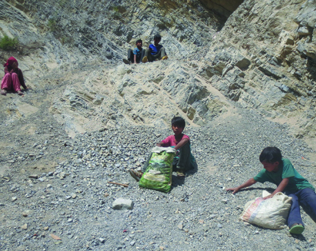 Children education lagging behind in Rolpa