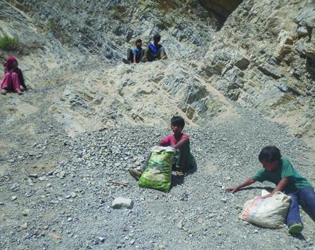 Children education lagging behind in Rolpa