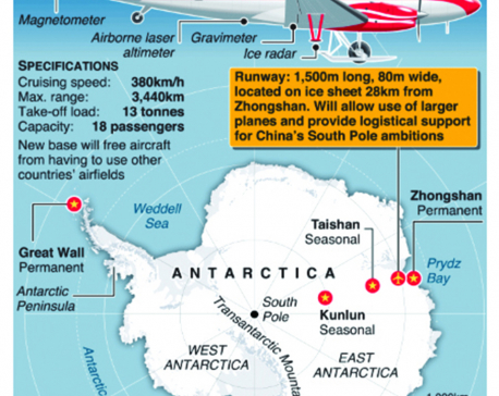 Infographic: China builds permanent airfield in Antarctic