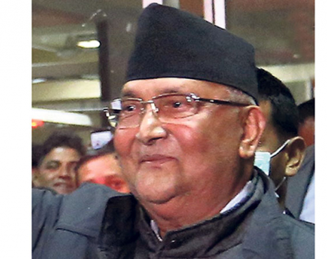 PM Oli advised to avoid public functions for a week