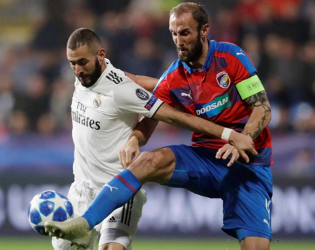 Benzema scores twice as Real Madrid hammer Viktoria Plzen 5-0
