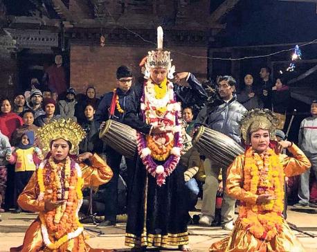 Artists perform Kartik Nach at Patan Durbar Square (With Photos)