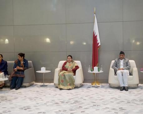 President Bhandari meets Polish counterpart