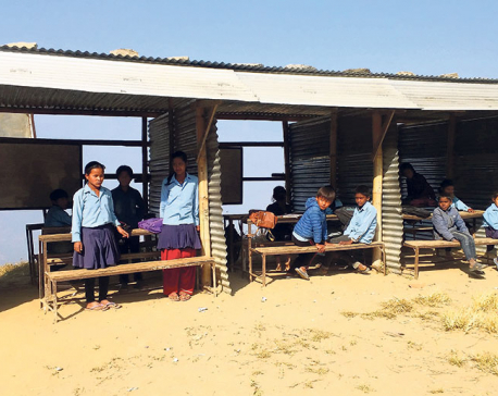 Searching for bright future under tin-roofed hut