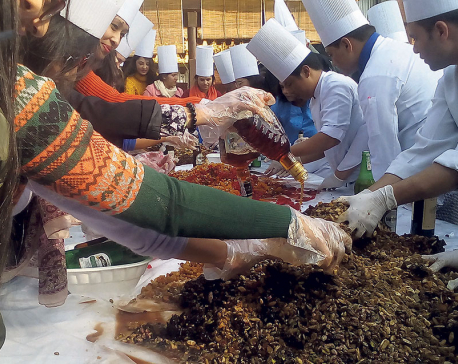 Christmas Cake Mixing event concluded at Hotel Shangri La