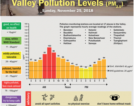 Valley Pollution Levels for November 25, 2018
