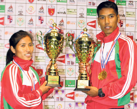 Ratnajit Tamang wins Pushpalal Badminton seventh straight time