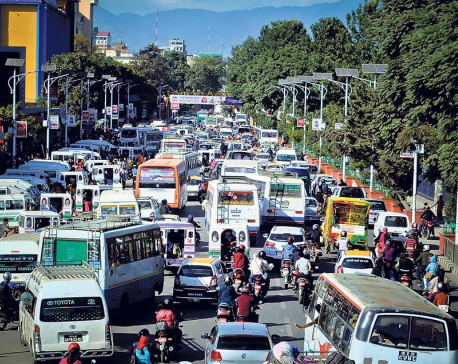Kathmandu sees high numbers of vehicles; traffic management turns challenging