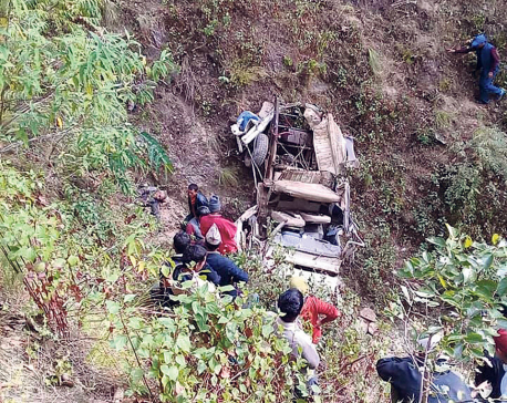 Five killed, three injured in Dailekh jeep accident