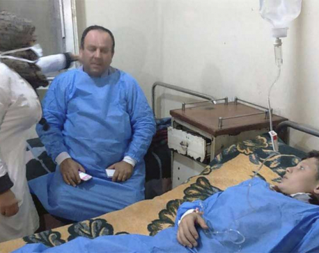 Syria state TV: 50 injured in rebel poison gas attack