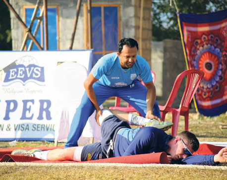 Sports injury occurs due to inadequate fitness, inability to warm up properly: Nyaupane
