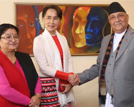 Oli-Suu Kyi hold one-on-one meeting