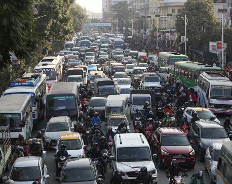 Kathmandu's Traffic Chaos: Vehicles stuck in major road sections