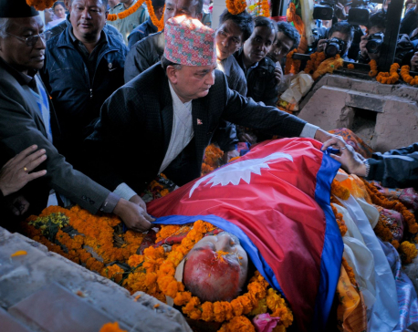 The Final Tribute: Padma Ratna Tuladhar laid to rest with nat'l honor