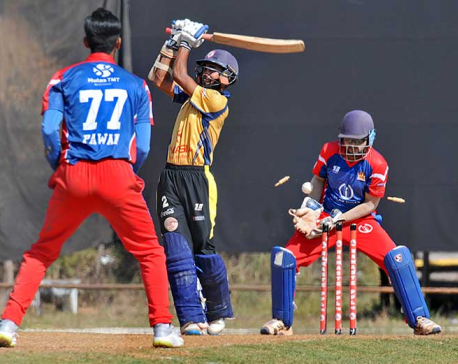 Chitwan Rhinos wins by 13 runs