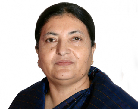 Prez Bhandari off to Qatar