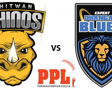 Chitwan Rhinos sets the target of 194 runs to Dhangadi Blues