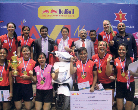 Chitwan thumps APF to win Aadhi Aabadhi volleyball title