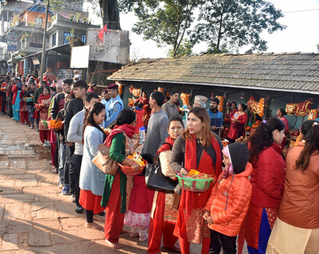 Devotees throng to goddess temples