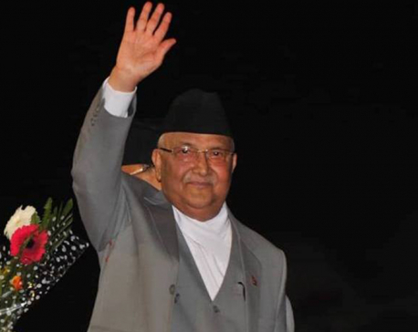 PM Oli returns home attending UNGA