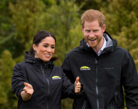 Meghan defeats Harry in New Zealand gumboot toss