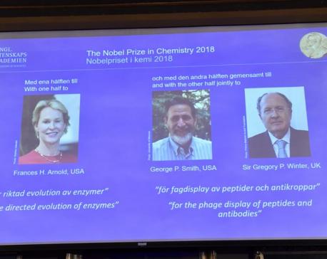 US, British scientists win Nobel Prize in chemistry
