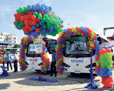 Sajha launches electric buses