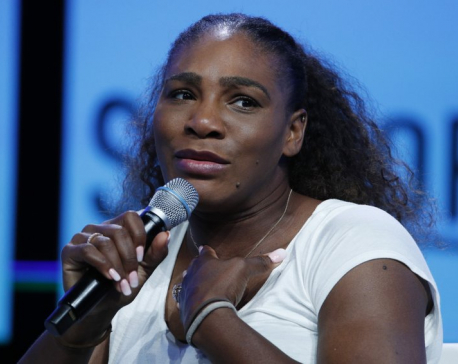 Serena Williams sings, goes topless for breast cancer video