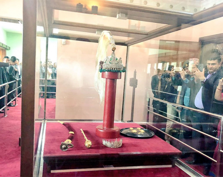 Royal crown now on public display