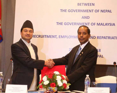 Malaysian employers to bear all costs for Nepali worker: MoU