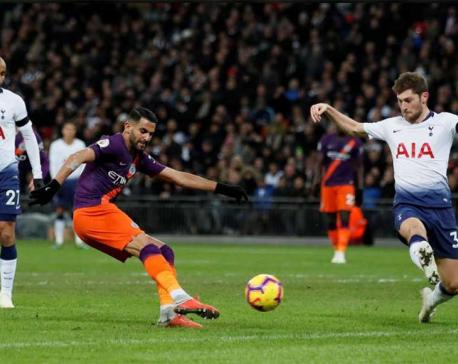 Emotional Mahrez seals points for Man City at Tottenham