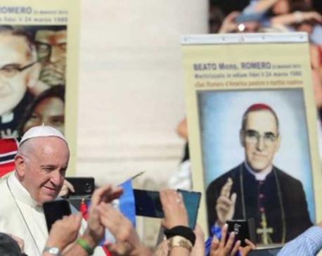 Salvadoran bishop Romero becomes Saint of The Americas