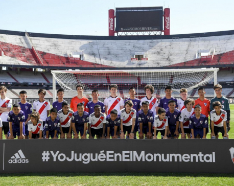 Thailand's cave boys enjoy kickabout at iconic River Plate stadium
