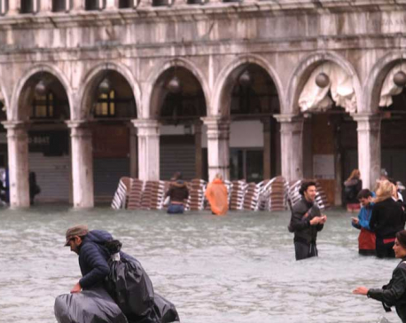 75% of Venice under water after unusually high tide strikes famed city ( IN PHOTOS)