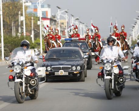 President's motorcade wreaks havoc